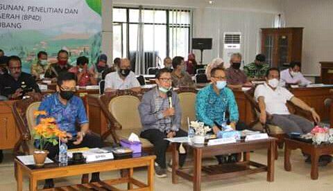 Wakil Bupati Subang Hadiri SAKIP di Ruang rapat BP4D, Jumat 18/9/2020 (dok. KM)