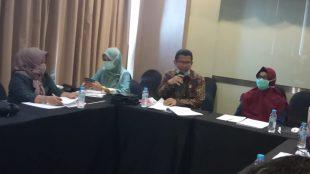 Kepala Bidang HAM, Kantor Wilayah Kementerian Hukum Dan HAM Provinsi Babel, Suherman, dalam sambutan pembukaan acara FGD di Bangka Tengah, Kamis 24/9/2020 (dok. KM)