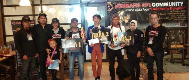 Lomba cipta lagu yang diselenggarakan Kembang Api Community di Kota Bogor, Minggu 18/10/2020 (dok. KM)