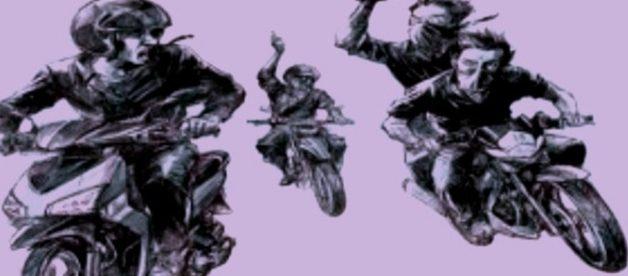 Ilustrasi aksi geng motor