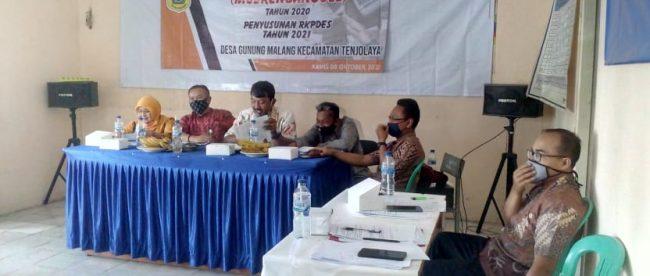 Musrenbangdes Gunung Malang, Kecamatan Tenjolaya, Kabupaten Bogor, Kamis 8/10/2020 (dok. KM)