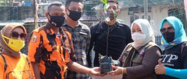 Giat Tanam Pohon GTP Ke-244 di Kelurahan Semplak, Kecamatan Bogor Barat, Minggu 11/10/2020 (dok. KM)
