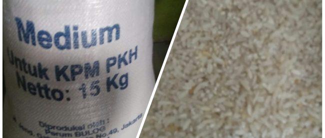 Kemasan dan penampakan beras yang diterima warga KPM PKH di Kecamatan Pamanukan dan Sukasari, Kabupaten Subang (dok. KM)