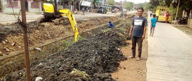 Normalisasi saluran irigasi Cileley, Desa Jati, Kecamatan Cipunagara, Kabupaten Subang (dok. KM)