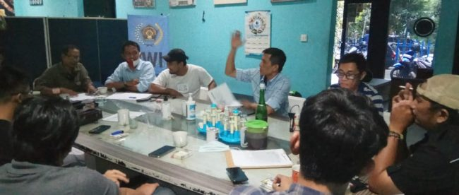 Rapat Panitia Penyelenggara Anugerah PWI Kota Bogor (dok. PWI Kota Bogor)