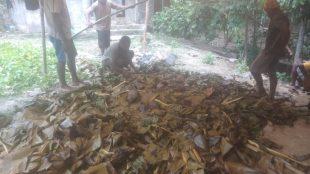 Keluarga besar Makikebo yang tergabung dalam panitia konferensi rayon Jayapura saat bakar batu, Sabtu, 30 Oktober 2020 (dok. KM)