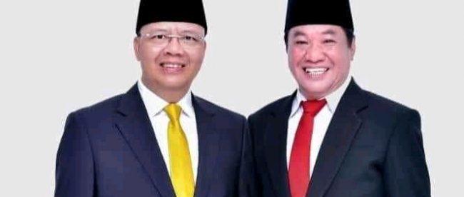 Rohidin-Rosjhonsyah Cagub-Cawabup peraih suara unggul sementara pada Pilgub Bengkulu