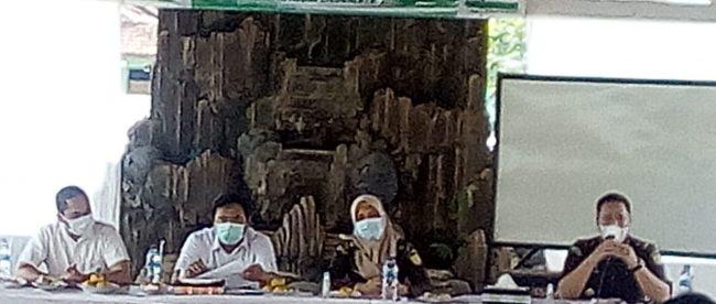 Pelaksanan monev tahun anggaran 2020 yang bertempat di Aula Desa Cidadap, Kec. Pagaden Barat, Kab. Subang, Rabu 16/12/2020 (dok. KM)