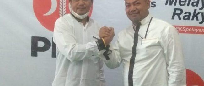Ketua DPD PKS masa bakti 2015-2020 Muhammad Syukur (kiri) dan Al Kusairi Nasution (dok. KM)
