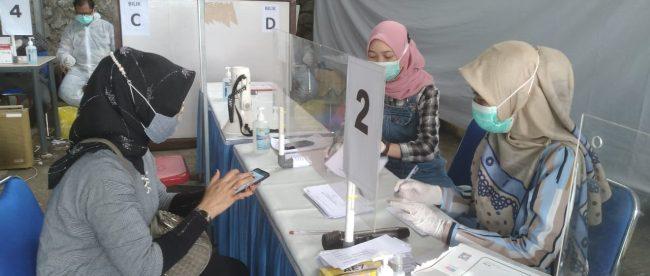 Layanan rapid test antigen di Stasiun KA Purwokerto, Jawa Tengah (dok. KM)