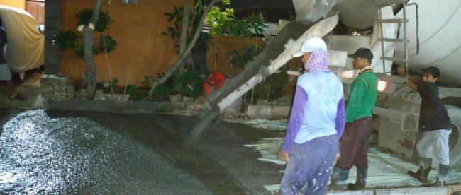 Pengecoran jalan di Perum Griya Asri 2, Kabupaten Bekasi (dok. KM)