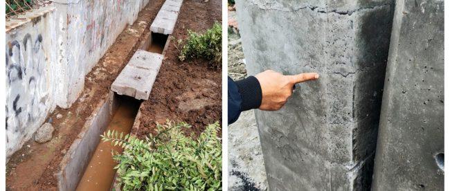 Pekerjaan saluran U-ditch di Perumahan SKU, Kabupaten Bekasi (dok. KM)