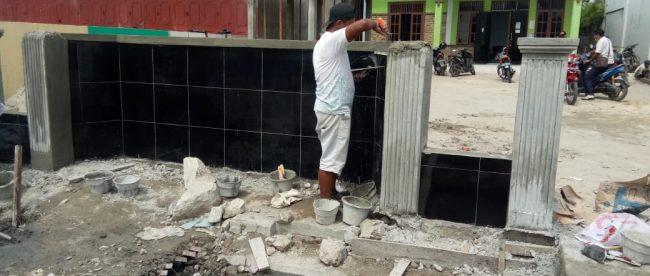 Pekerjaan PKT di sekitar Kantor Desa Simpang Empat, Kabupaten Asahan (dok. KM)