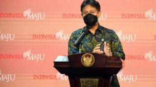 Menteri Kesehatan Budi Gunadi Sadikin saat memberikan keterangan pers di Kantor Presiden, Jakarta, Selasa 29/12/2020 (dok. KM)