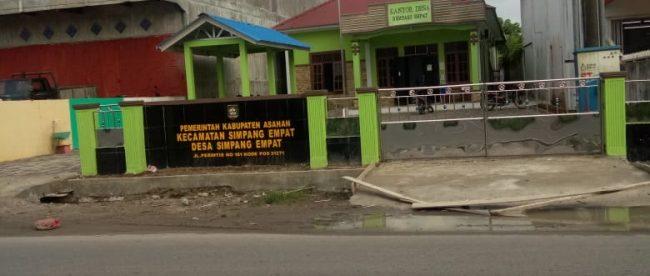 Kantor Desa Simpang Empat, Kecamatan Simpang Empat, Kabupaten Asahan (dok. KM)