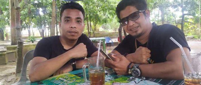 Ketua GARI-SU Rudi Bhakti dan Ketua WAHAPI Andrian Sulin (dok. KM)