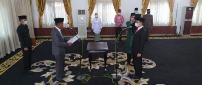 Bupati Subang melantik Pj Sekda, Selasa 26/1/2021 (dok. KM)