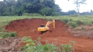 Aktivitas galian yang dikeluhkan warga Desa Kalisuren, Kecamatan Tajur Halang, Kabupaten Bogor (dok. KM)