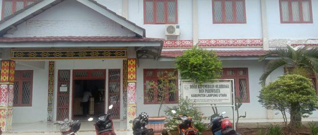Kantor Dinas Kepemudaan, Olahraga dan Pariwisata Kabupaten Lampung Utara (dok. KM)