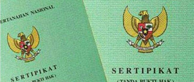 Ilustrasi sertifikat tanah (dok. KM)