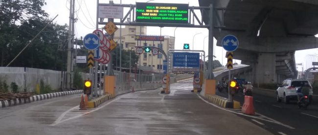 Pintu tol di Jalan tol Lingkar Luar Bogor atau BORR (dok. KM)