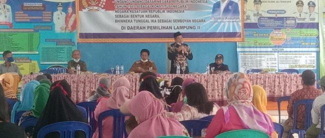 Sosialisasi 4 Pilar MPR-RI di Desa Talang Jali, Kotabumi UItara, Lampung (dok. KM)