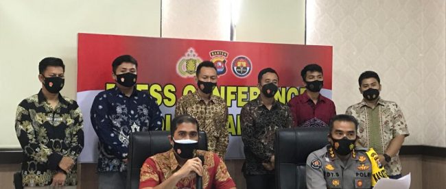 Konferensi Pers Polda Banten pada Jumat 19/2/2020 (dok. KM)