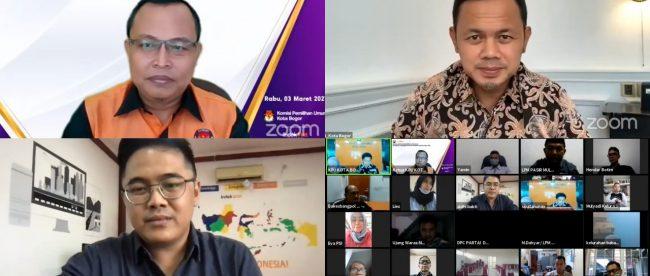 Diskusi online KPU Kota Bogor bertajuk KAPENDAK (dok. KPU Kota Bogor)