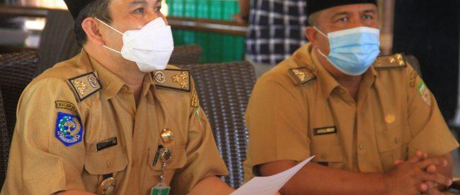 Kepala Dinas Kesehatan Provinsi Bengkulu Herwan Antoni saat memberikan penjelasan tentang KBS kepada media pada Selasa,(16/03/2021).