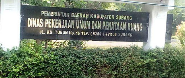 Kantor Dinas Pekerjaan Umum dan Penataan Ruang (PUPR) Kabupaten Subang (dok. KM)