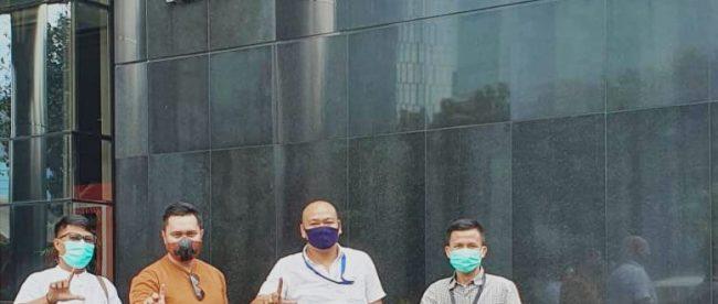 Ketua DPC KWRI Kota Metro beserta pengurus kunjungi kantor KPK di Jakarta, dalam rangka Kunjungan Kerja Tahun 2021 (dok. KM)
