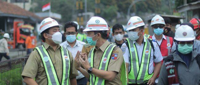 Wakil Wali Kota Bogor Dedie A. Rachim saat pengecekan double track Bogor-Sukabumi, Selasa 9/3/2021 (dok. KM)