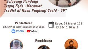 """Agenda webinar nasional bertajuk """"Selayang Pandang Tenun Ende"""" (dok. KM)"""