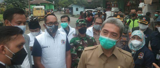 Forkopimda Kota Bogor saat sidak di Pasar Tekum Kemang Kota Bogor, Senin 22/3/2021 (dok. KM)