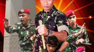 Guru Besar Seni Golok Indonesia Ki Kumbang bersama Grup 1 Kopassus TNI AD (dok. KM)