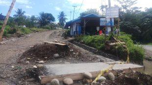 Peningkatan Pembangunan Jalan Bajak 1 - Lb.Unen yang sedang di kerjakan