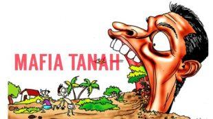 Ilustrasi mafia tanah