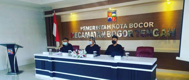 Kecamatan Bogor Tengah, Kota Bogor, saat acara pembinaan pelaku UMKM di Aula Kecamatan Bogor Tengah, Kamis 8/4/2021 (dok. KM)