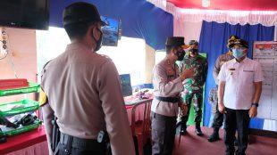 Kapolda Bengkulu saat meninjau posko di Bengkulu Selatan pada Minggu(16/05/