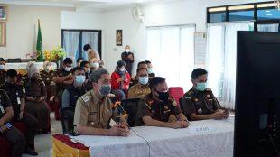 Pencanangan Zona WBK dan WBBM di Aula Kejaksaan Negeri Kota Bogor, Selasa 4/5/2021