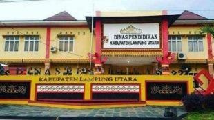 Gedung kantor Dinas Pendidikan Kabupaten Lampung Utara (dok. KM)