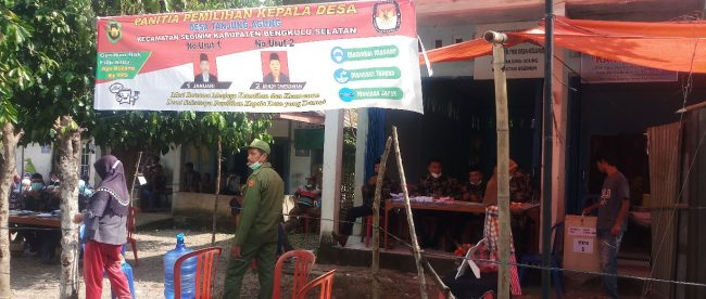 Suasana Pilkades Desa Tanjung Agung Kec.Seginim Bengkulu Selatan Senen,(28/06/2021)
