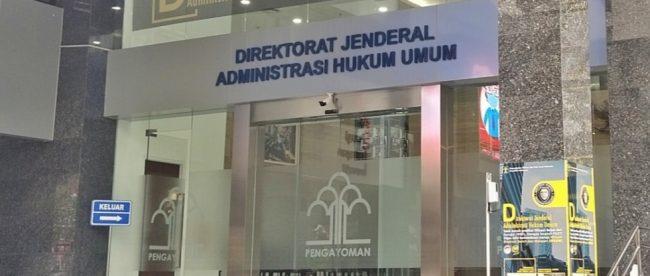 Direktorat Jenderal Administrasi Hukum Umum, Kementerian Hukum dan HAM (stock)