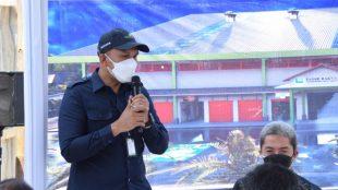 Dirut Perumda PPJ Kota Bogor Muzakkir saat peletakan batu pertama Pasar Tanah Baru