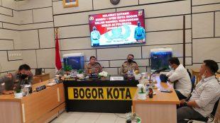Audensi Pengurus dan panitia Konferensi PWI Kota Bogor dengan Polresta Bogor Kota Senin 28/08/2021 (dok. KM)
